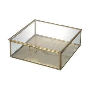Skleněný box Parlane Gold, 19 cm