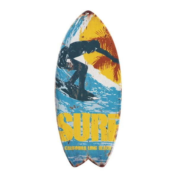 Set 4 decorațiuni metalice de perete Geese Surfboard