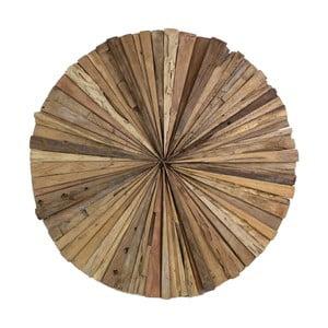 Nástěnná dekorace z teakového dřeva HSM Collection Roude,60cm