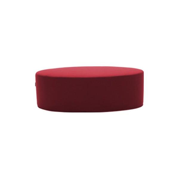 Tmavě červený puf Softline Bon-Bon Felt Red, délka 60 cm
