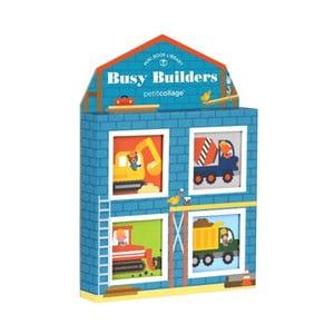 Sada 4 obrázkových knížek Petit collage Busy Builders