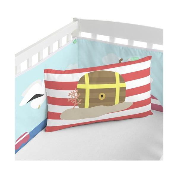 Textilní ohrádka do postýlky Happynois Yellow Submarine, 210x40cm