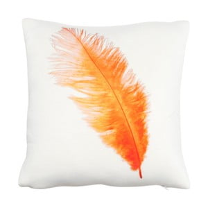 Polštář Feather Orange, 30x30 cm