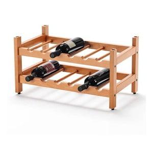 Police na víno z bukového dřeva Arredamenti Italia Cilegio, výška 29 cm