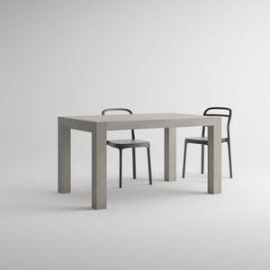 Masă extensibilă decor gri beton MobiliFiver Iacopo, lungime 140-220 cm