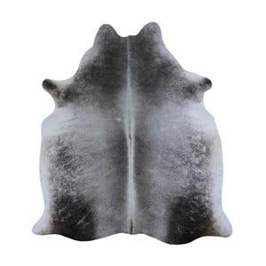 Covor din piele de vacă, 230 x 155 cm, gri