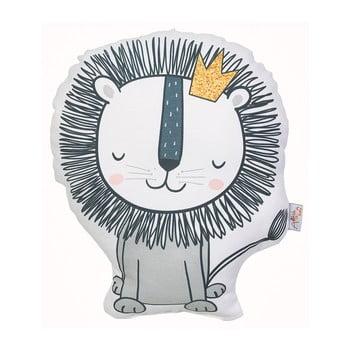 Pernă din amestec de bumbac pentru copii Apolena Pillow Toy Lion, 33 x 28 cm