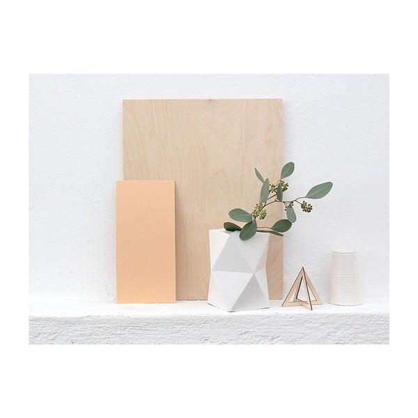 Skládací origami váza SNUG.Low White