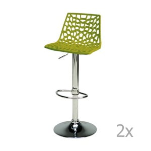 Set de 2 scaune ajustabile pentru bar Castagnetti Gass, verde