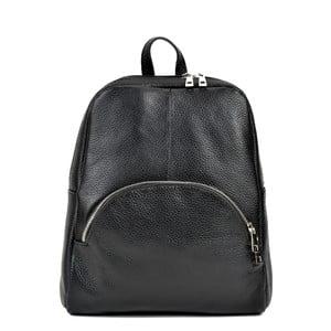 Černý kožený batoh RenataCorsi Orsola