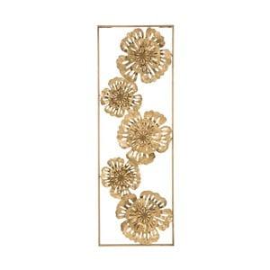 Železná nástěnná dekorace ve zlaté barvě Mauro Ferretti Luxy Natura