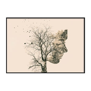 Poster DecoKing Girl Silhouette Tree, 100 x 70 cm