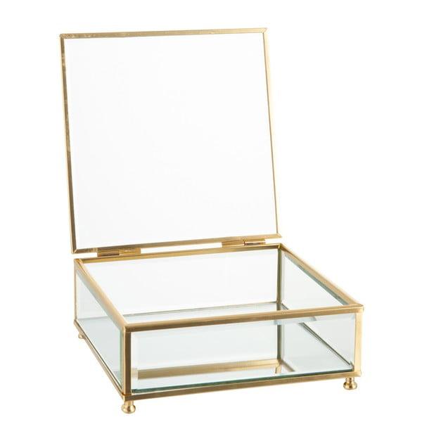 Skleněná šperkovnice J-Line Gold,15x6cm