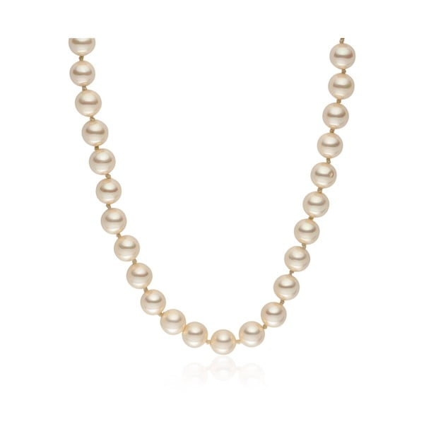 Světle žlutý perlový náhrdelník Pearls Of London Mystic, délka 45cm
