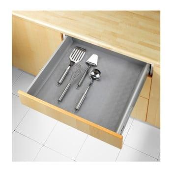 Suport antiderapant pentru sertare Wenko Anti Slip Mat 500, 150 x 50 cm, gri imagine