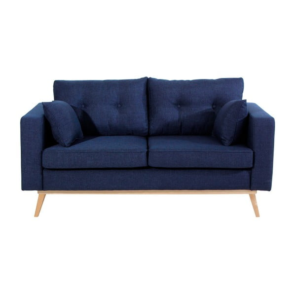 Tmavě modrá dvoumístná pohovka Max Winzer Tomme