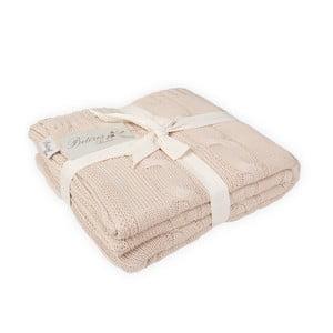 Růžovobéžová bavlněná deka Couture Gold, 170x130cm