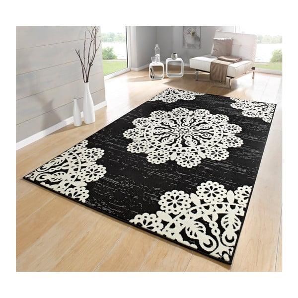 Černý koberec Hanse Home Gloria Lace, 80x150cm