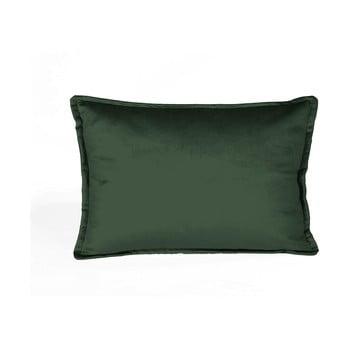 Pernă cu husă din catifea Velvet Atelier Dark,50x35cm, verde închis