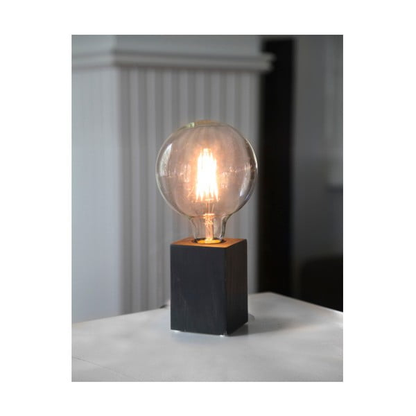 Černá dřevěná lampa Best Season Lys