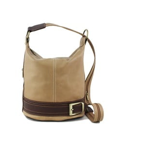 Béžová kabelka z pravé kůže GIANRO' Melody