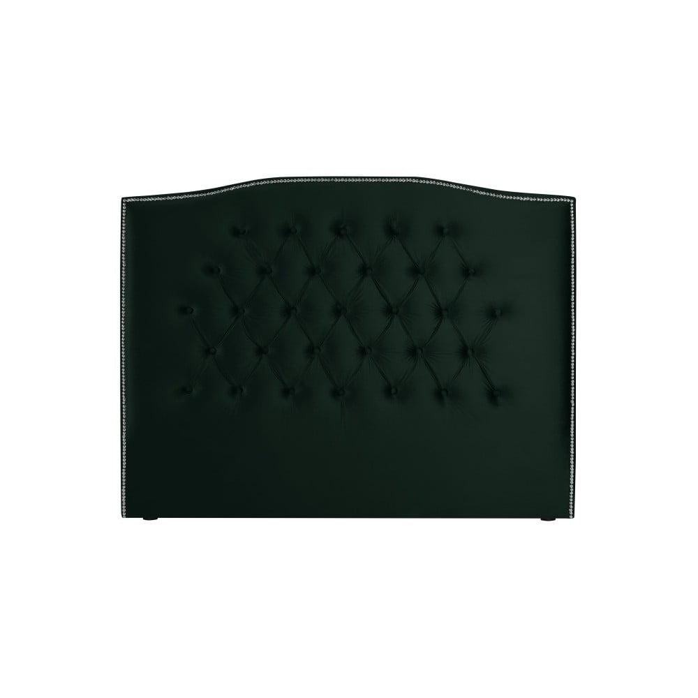 Láhvově zelené čelo postele Mazzini Sofas, 160 x 120 cm