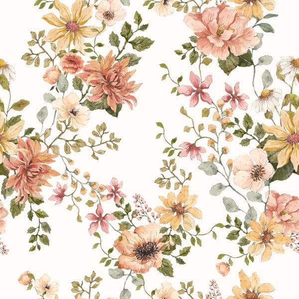 Nástěnná samolepka s motivem květin Dekornik