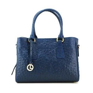 Kožená kabelka Struzzo Piccolo Blue
