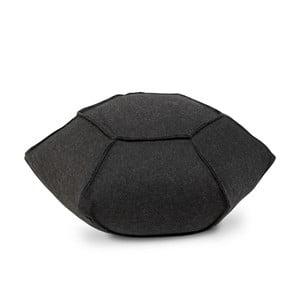 Černý ručně vyráběný puf HF Living Inida