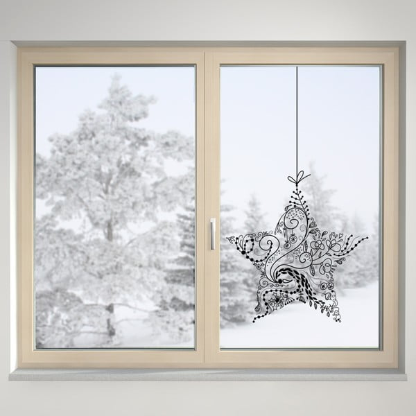 Elektrostatická samolepka Christmas Star
