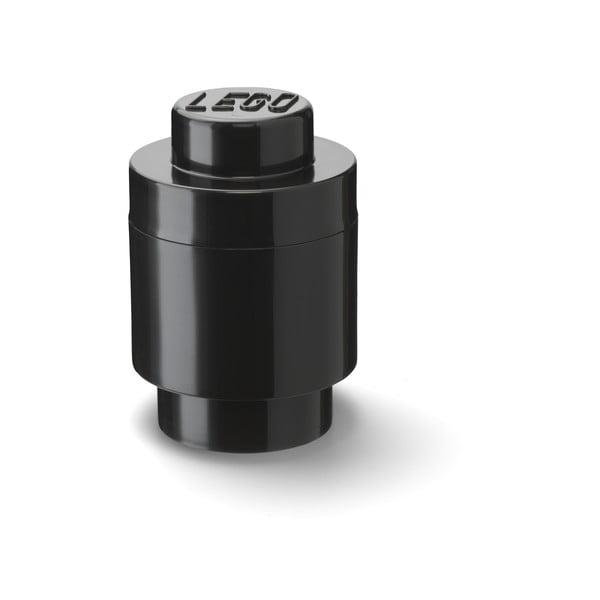 Cutie depozitare rotundă LEGO®, negru