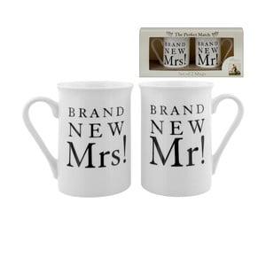 Sada 2 hrnečků Amore Brand New Mr. and Mrs., 280ml