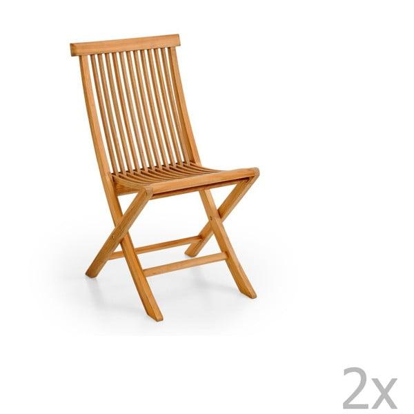 Sada 2 skládacích zahradních židlí Brafab Turin