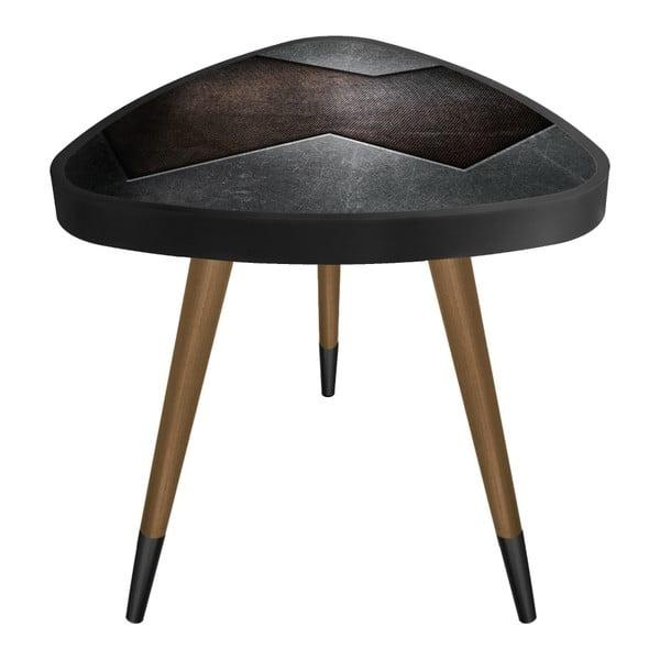 Príručný stolík Maresso Blown Metal Triangle, 45 × 45 cm