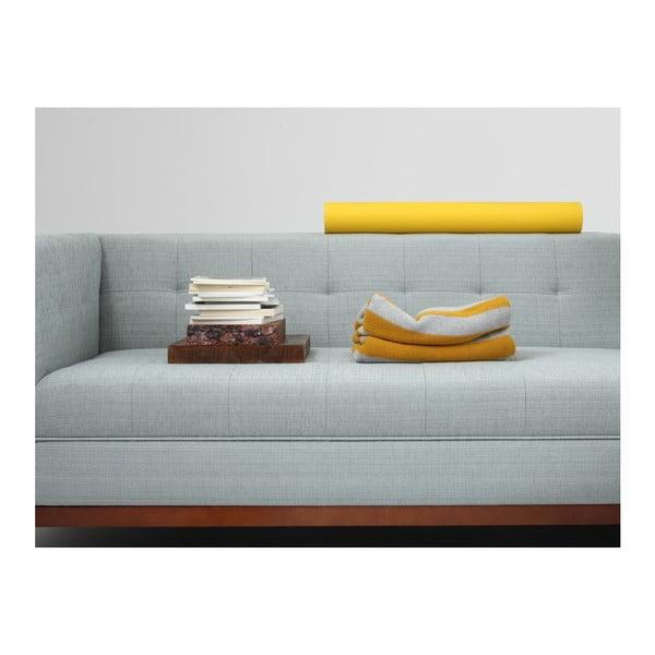 Světle tyrkysová rohová pohovka s lenoškou na pravé straně Custom Form By Tom