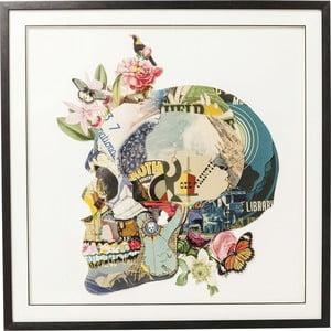 Tablou Kare Design Art Skull, 100 x 100 cm