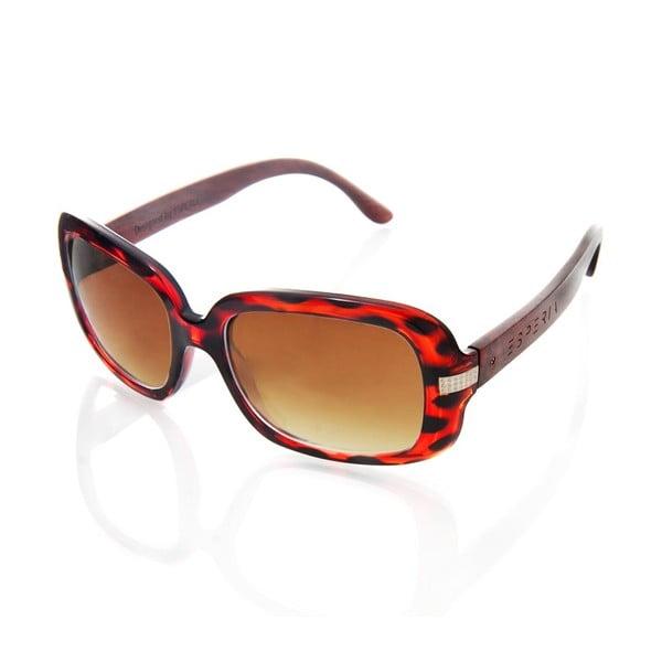 Dřevěné sluneční brýle Pebble Red