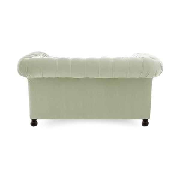 Canapea 2 locuri Vivonita Chesterfield, verde deschis