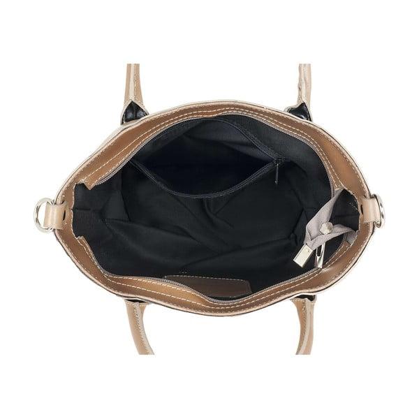 Kožená kabelka Teggie Beige