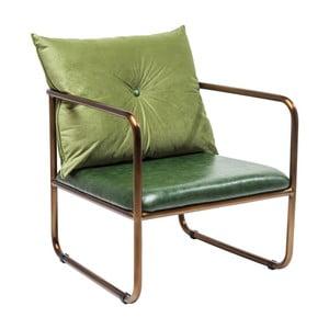 Zelené křeslo Kare Design Theo