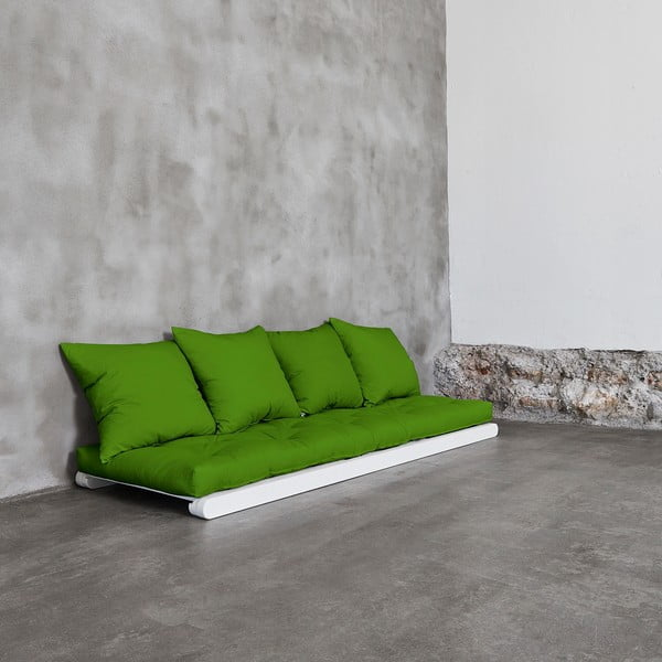 Fotoliu Karup Figo, White/Lime, 70 cm