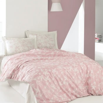 Lenjerie de pat din bumbac cu cearșaf Carter, 220 x 240 cm de la Unknown