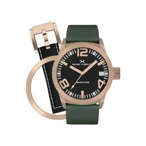 Dámské hodinky Marc Coblen s páskem a kroužkem navíc P80