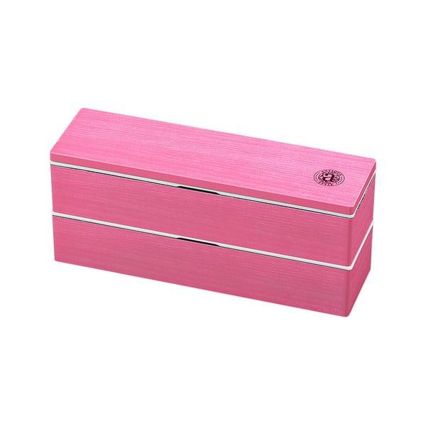 Růžový svačinový box Joli Bento Antique,840ml