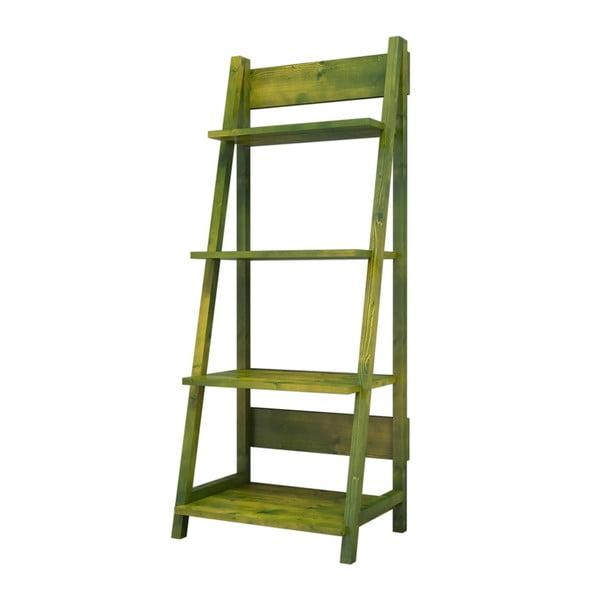 Olivově zelená knihovna z borovicového dřeva Robin