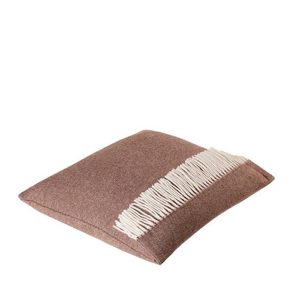 Vlněný polštář Liverpool 40x50 cm, hnědý