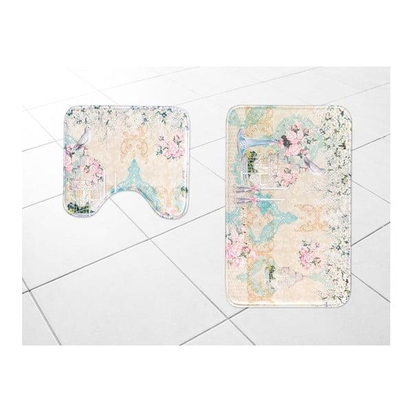 Sada 2 koupelnových předložek Madame Coco Memories, 45x50cm/50x80cm
