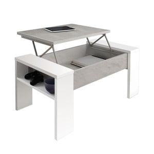 Šedo-bílý konferenční stůl s úložným prostorem Tomasucci James