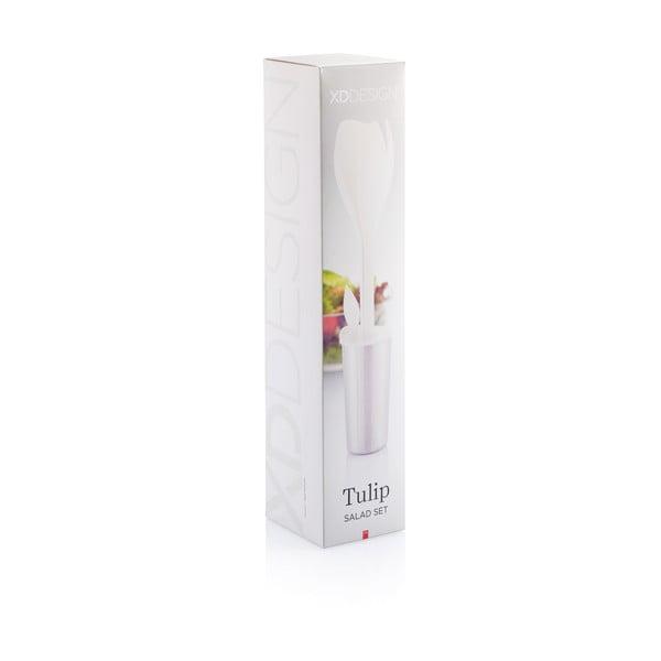 Bílá sada na salát XD Design Tulip
