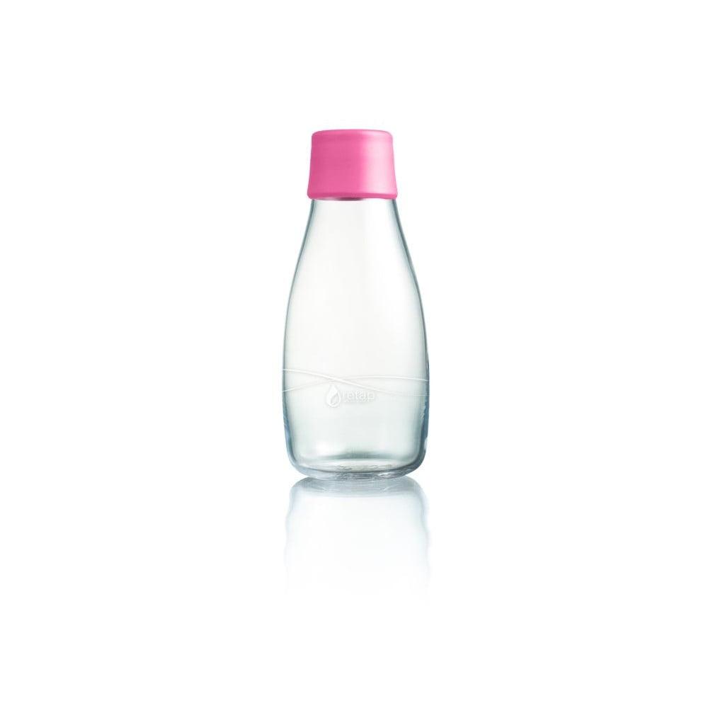 Světlerůžová skleněná lahev ReTap s doživotní zárukou, 300ml
